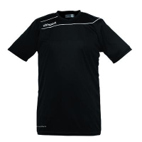 Maillot de football Stream 3 noir/blanc manches courtes Uhlsport
