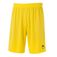 Short de football Center Basic II jaune Uhlsport