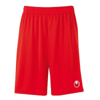 Short de football Center Basic II rouge Uhlsport