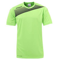 Maillot de football Liga 2.0 vert flash/noir Uhlsport