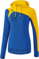 COUPE FEMME ! Sweat à capuche Club 1900 2.0 bleu roy/jaune Erima