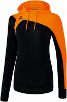 COUPE FEMME ! Sweat à capuche Club 1900 2.0 noir/orange Erima