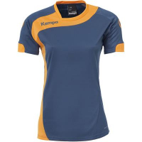 COUPE FEMME ! Maillot de handball Peak bleu pétrole/orange Kempa