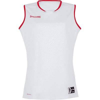 COUPE FEMME ! Maillot de basket Move Tank Top blanc/rouge Spalding