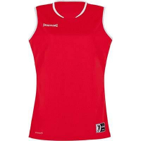 COUPE FEMME ! Maillot de basket Move Tank Top rouge/blanc Spalding