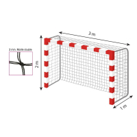 Accessoire handball Filet maille double pour but de handball Tremblay