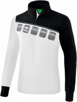 Sweat 1/2 zip Erima 5C blanc-noir