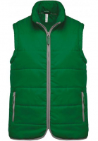 Veste Bodywarmer vert kelly green personnalisable