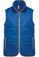 Veste Bodywarmer bleu royal personnalisable