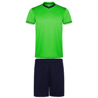 Maillot de football kit maillot + short vert-marine