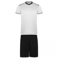 Maillot de football kit maillot + short blanc-noir