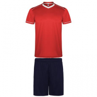 Maillot de football kit maillot + short rouge-marine