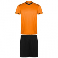 Maillot de football kit maillot + short orange-noir