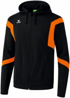 Survêtement DESTOCKAGE ! Veste capuche classic team Erima noir-orange
