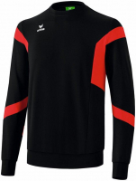 DESTOCKAGE ! Sweat Erima classic team noir-rouge
