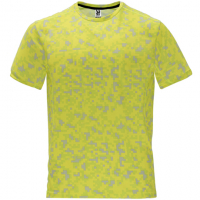 Tee-shirt homme Tee-shirt technique Roly jaune fluo personnalisable