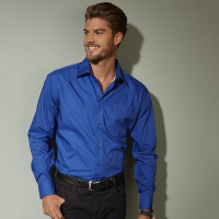 Chemise homme business manches longues royal personnalisable