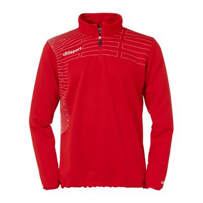 Sweat d'entraînement 1/4 zip top MATCH rouge/blanc Uhlsport